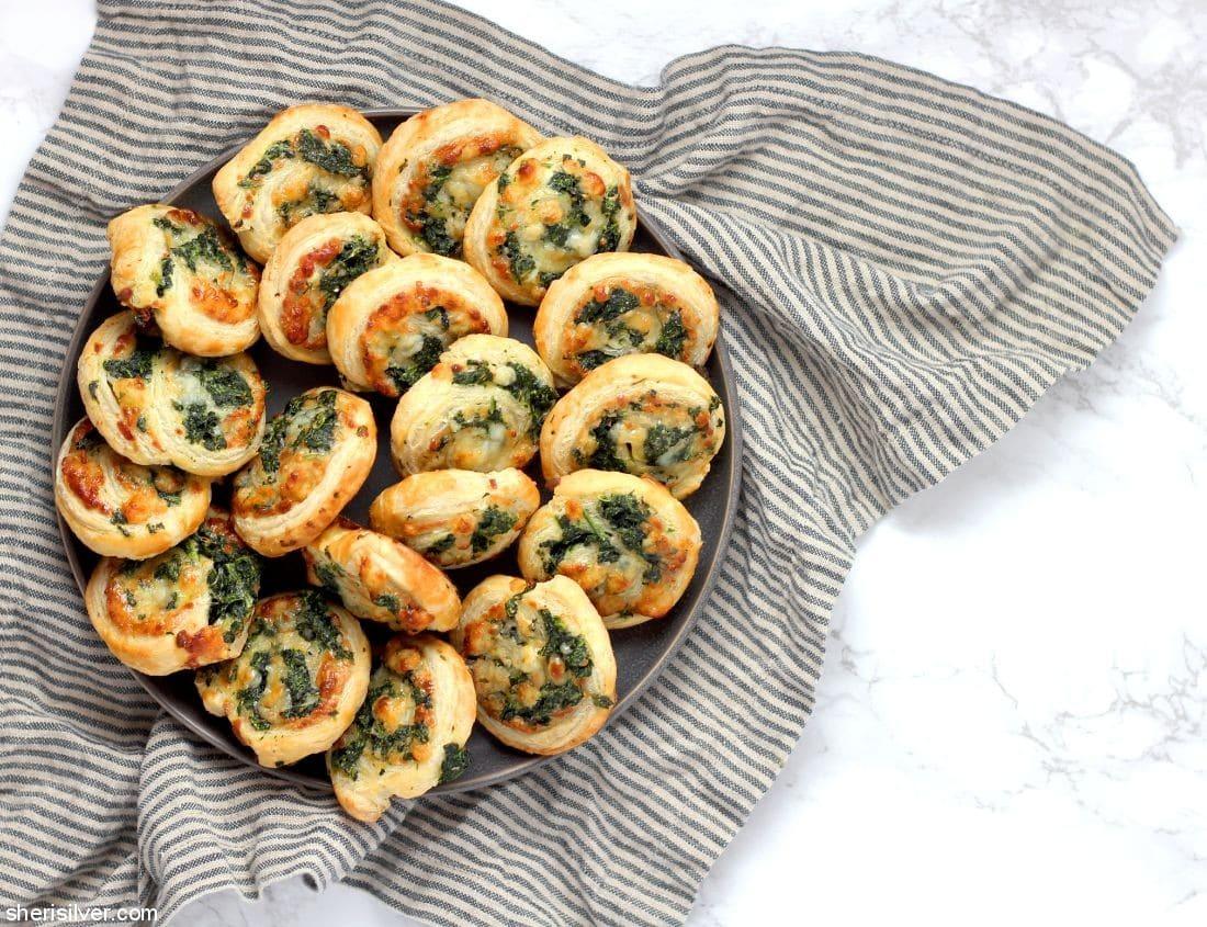 Spinach Pinwheels l sherisilver.com