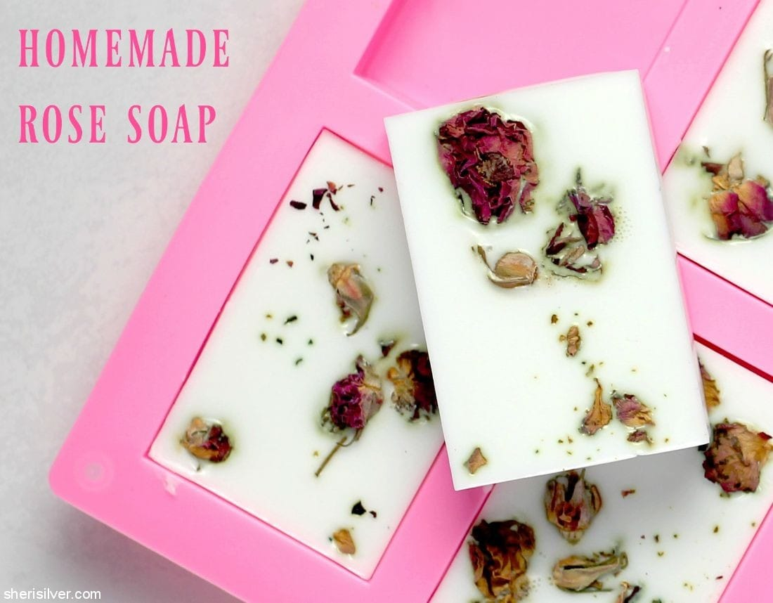 Homemade Rose Soap l sherisilver.com