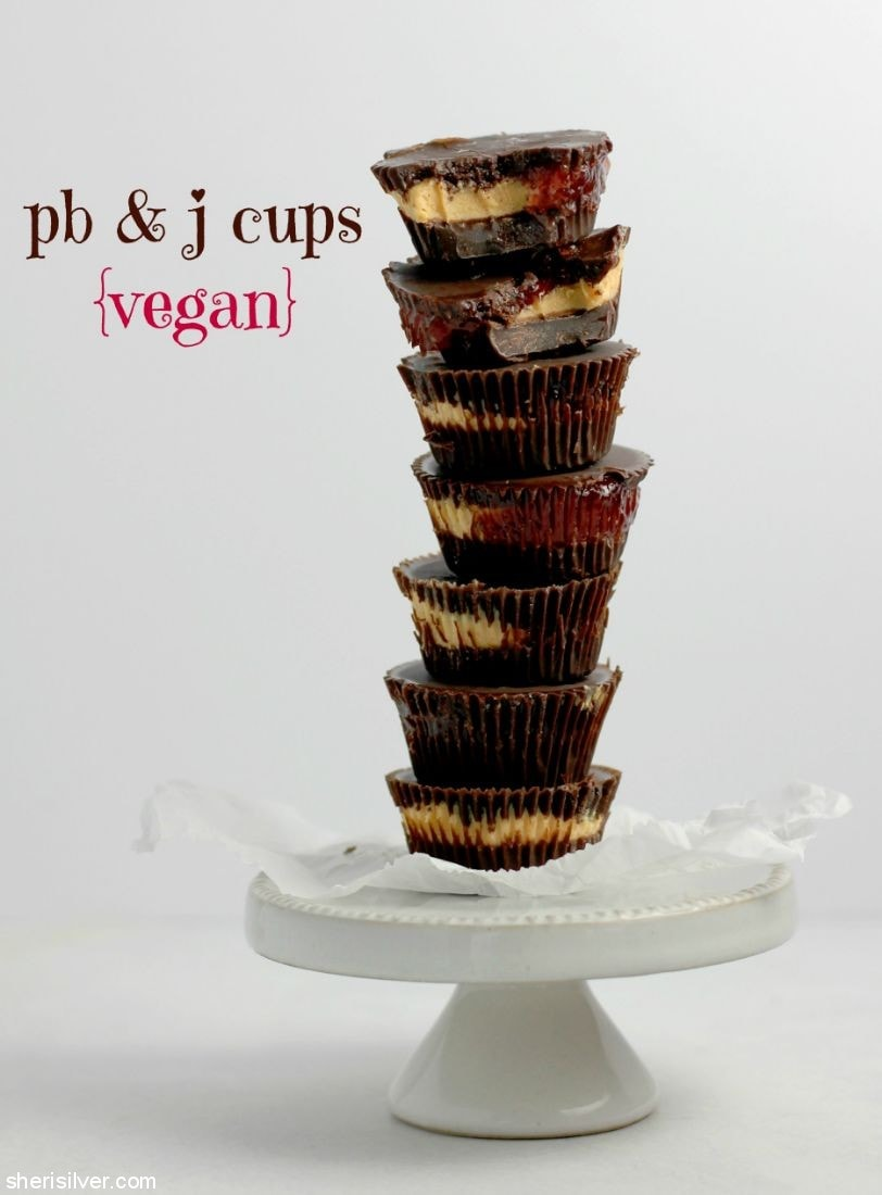 Peanut Butter and Jelly Cups {Vegan} l sherisilver.com
