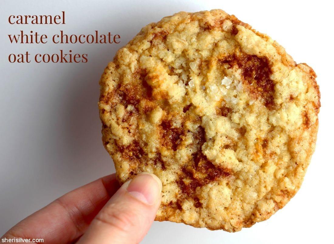 Caramel White Chocolate Oat Cookies l sherisilver.com