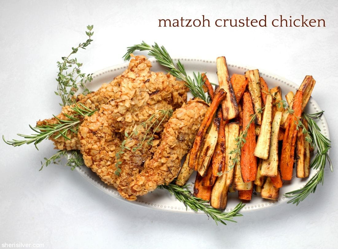Matzoh Crusted Chicken l sherisilver.com
