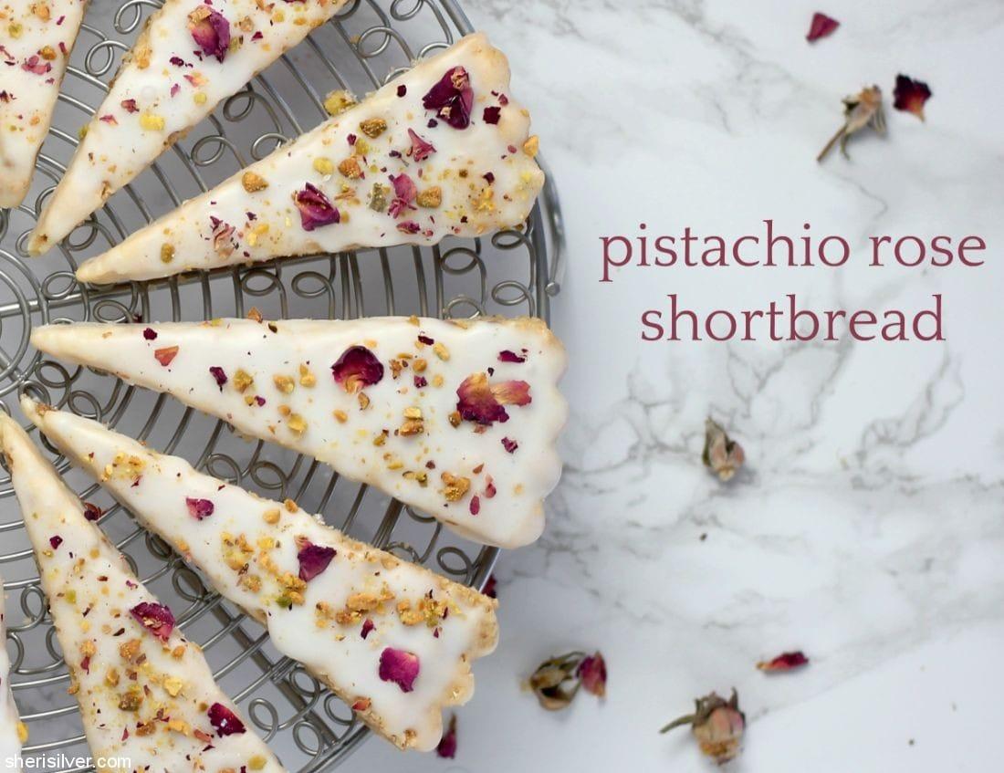 Pistachio Rose Shortbread l sherisilver.com