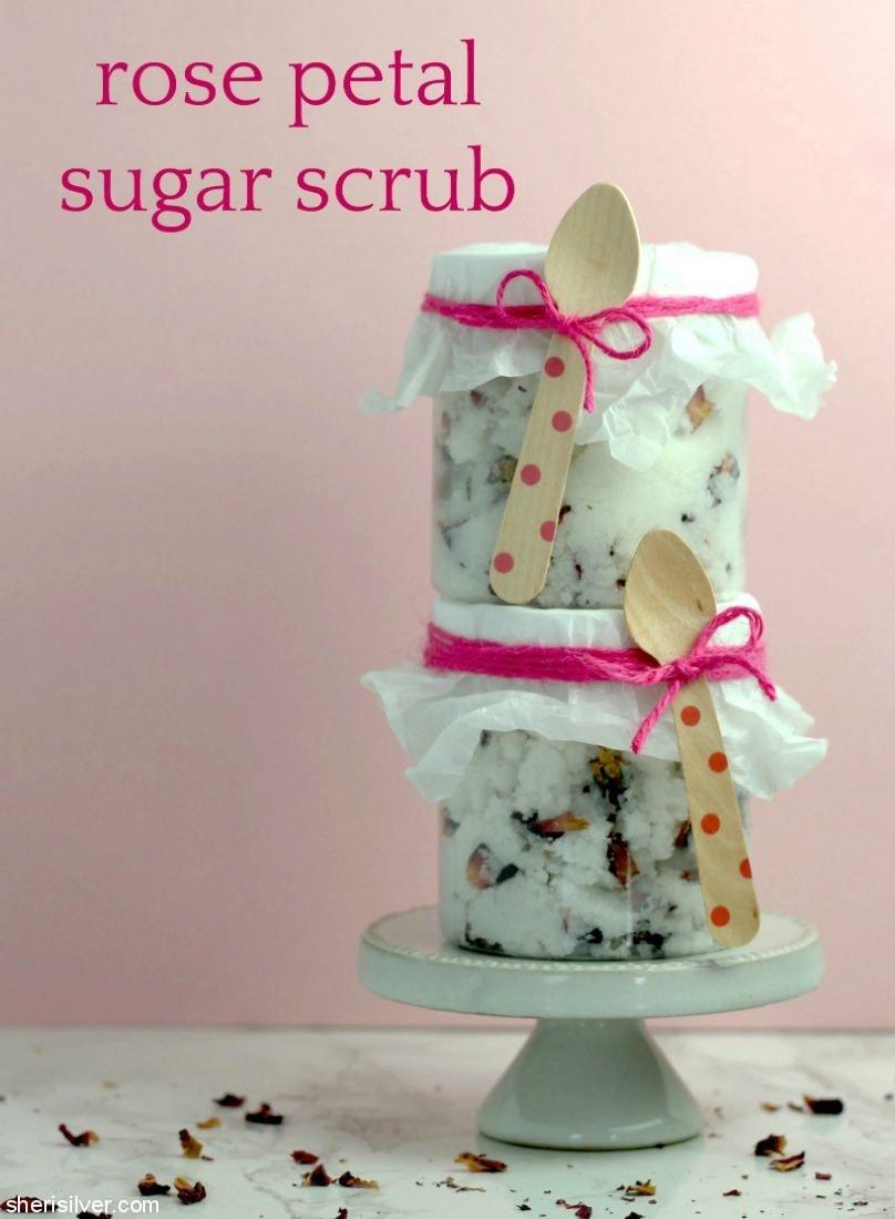 Rose Petal Sugar Scrub l sherisilver.com