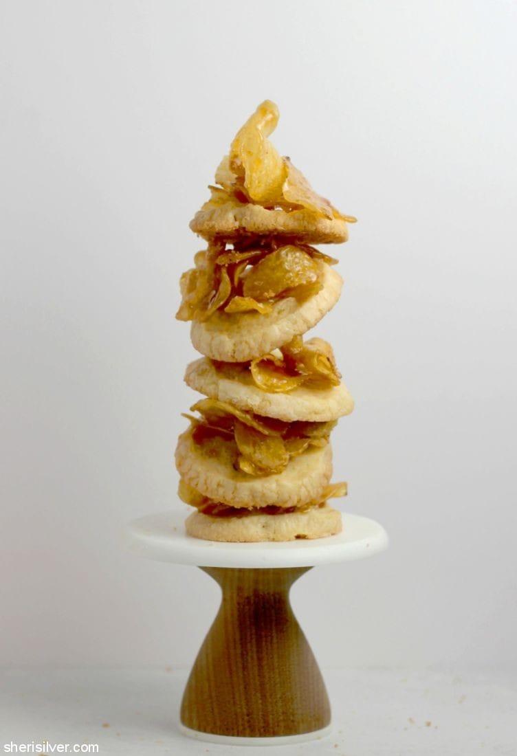 Honey Butter Potato Chip Cookies l sherisilver.com