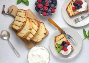 Grilled Pound Cake l sherisilver.com