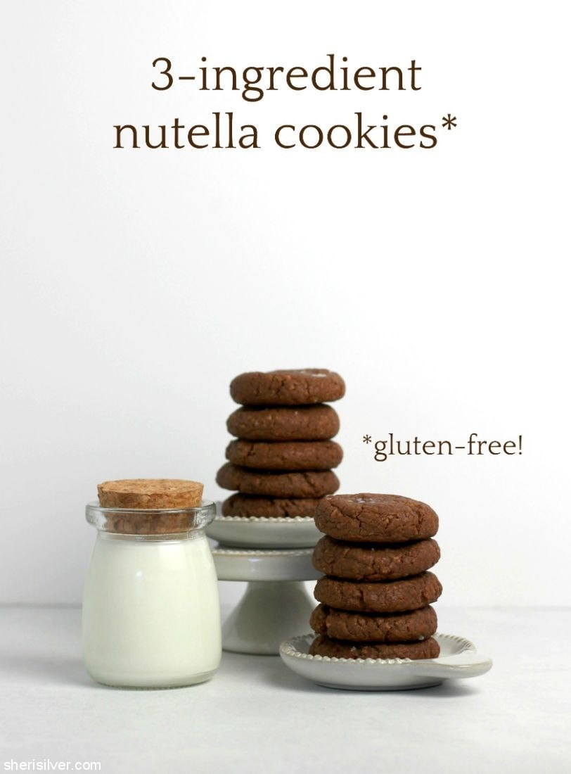 3-Ingredient Nutella Cookies l sherisilver.com