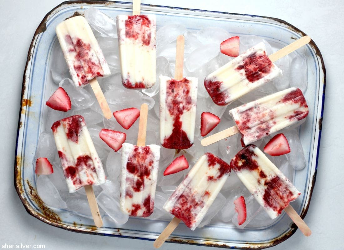Strawberry Fool Pops l sherisilver.com