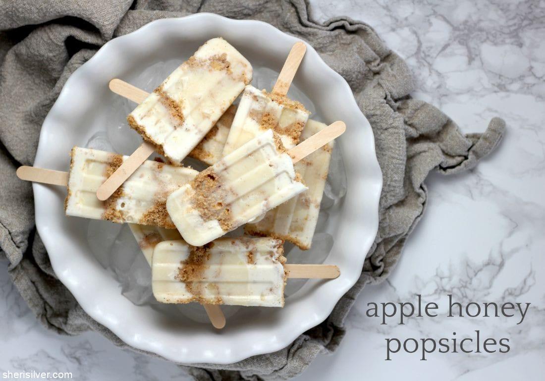Apple Honey Popsicles l sherisilver.com