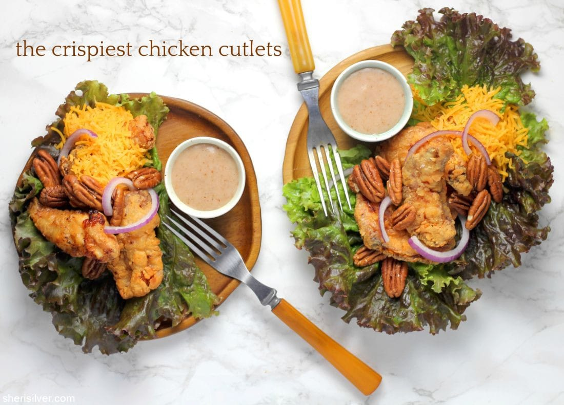 The Crispiest Chicken Cutlets l sherisilver.com #ad