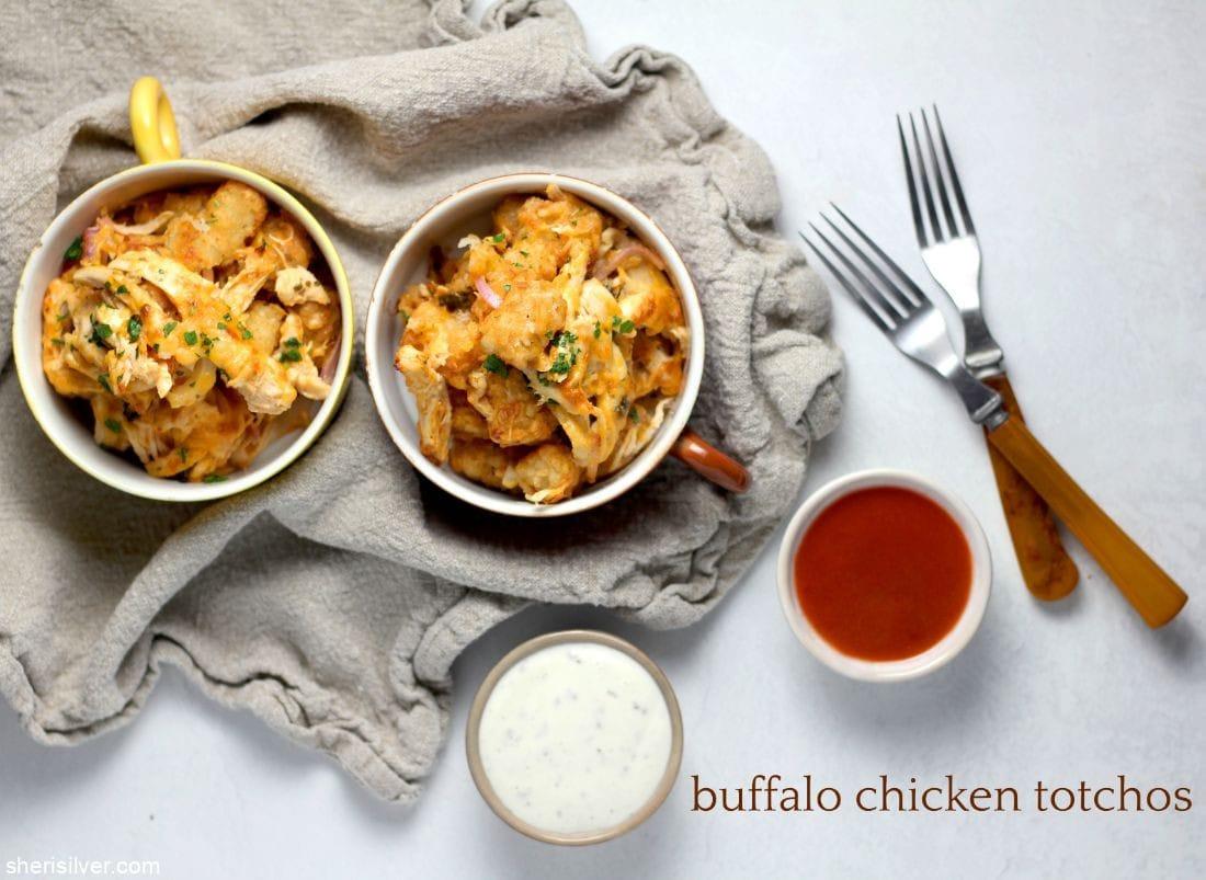 Buffalo Chicken Totchos l sherisilver.com