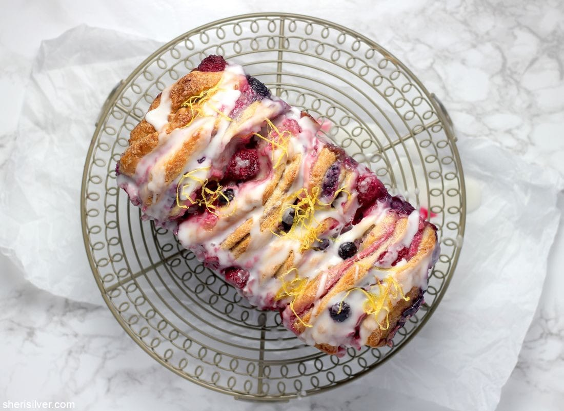 Mixed Berry Pull Apart Loaf l sherisilver.com