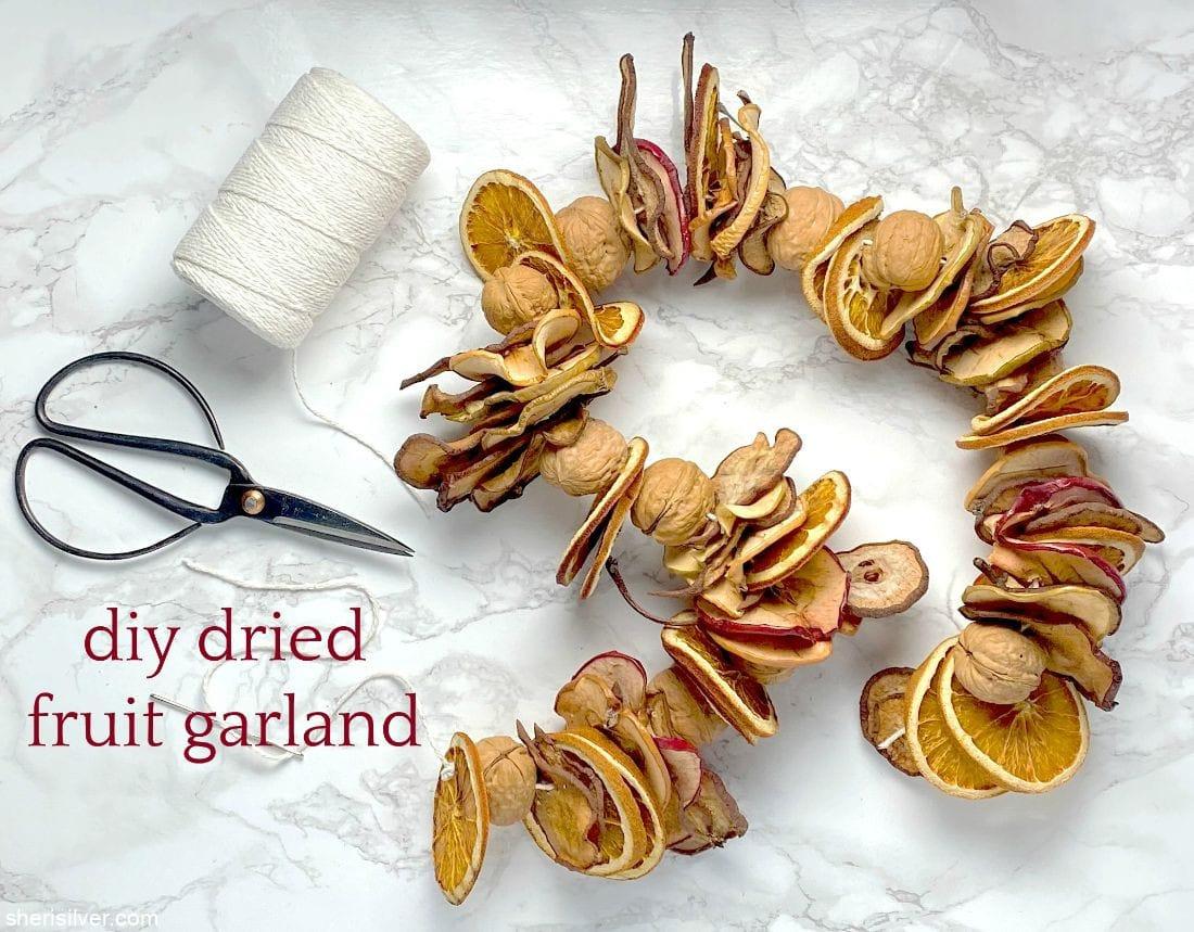 DIY Dried Fruit Garland l sherisilver.com