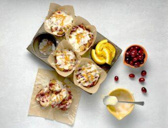 Cranberry Orange Pull Apart Muffins l sherisilver.com
