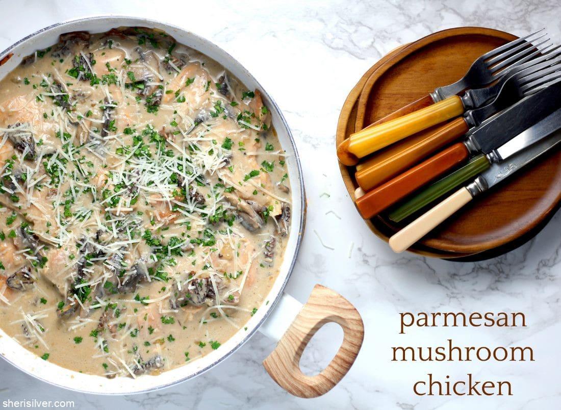 Parmesan Mushroom Chicken l sherisilver.com