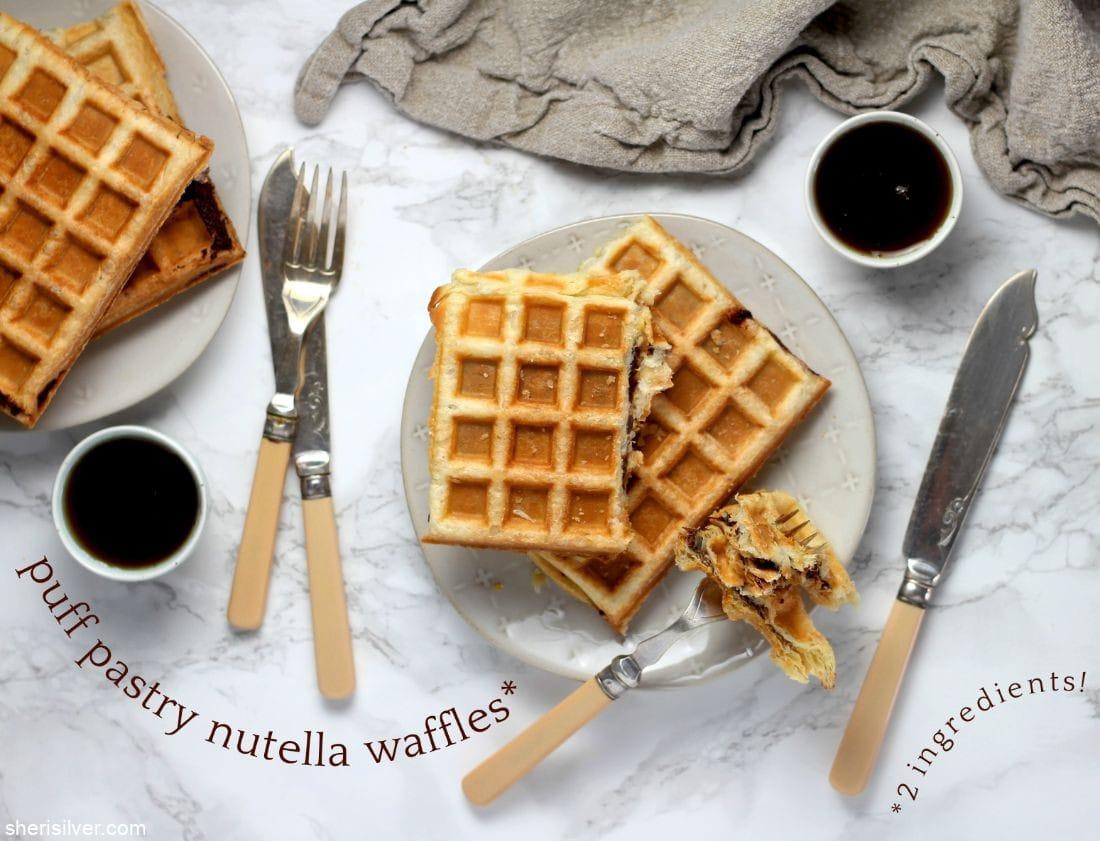 Puff Pastry Nutella Waffles l sherisilver.com