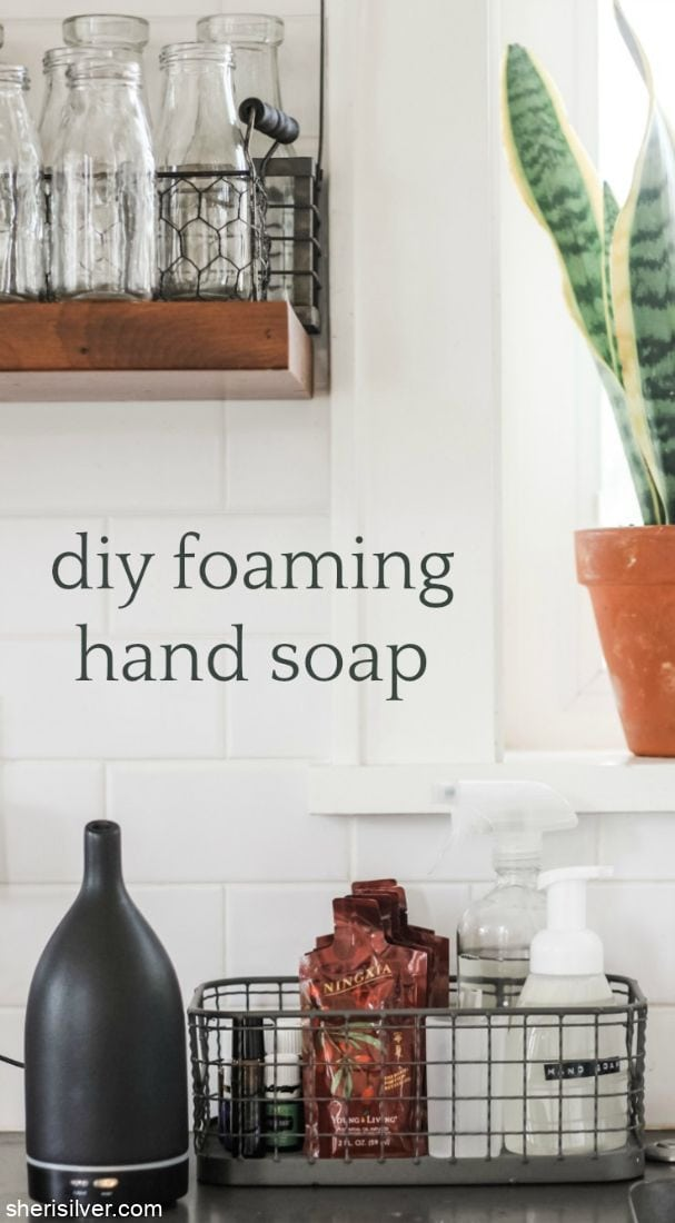 DIY Foaming Hand Soap l sherisilver.com
