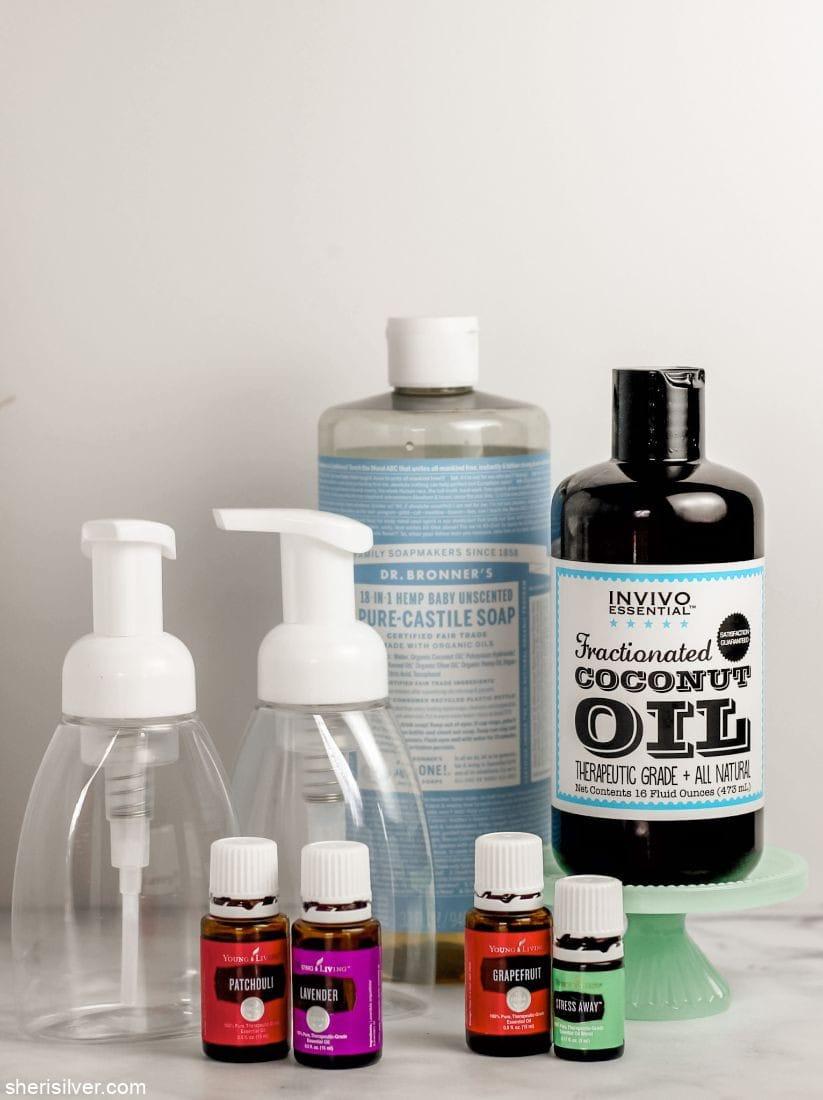 DIY Foaming Hand Soap l sherisilver.com