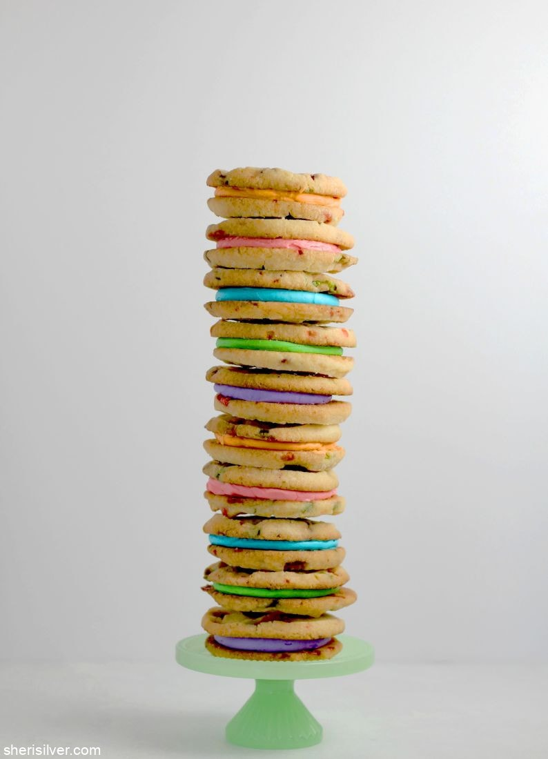 Lucky Charms Sandwich Cookies l sherisilver.com