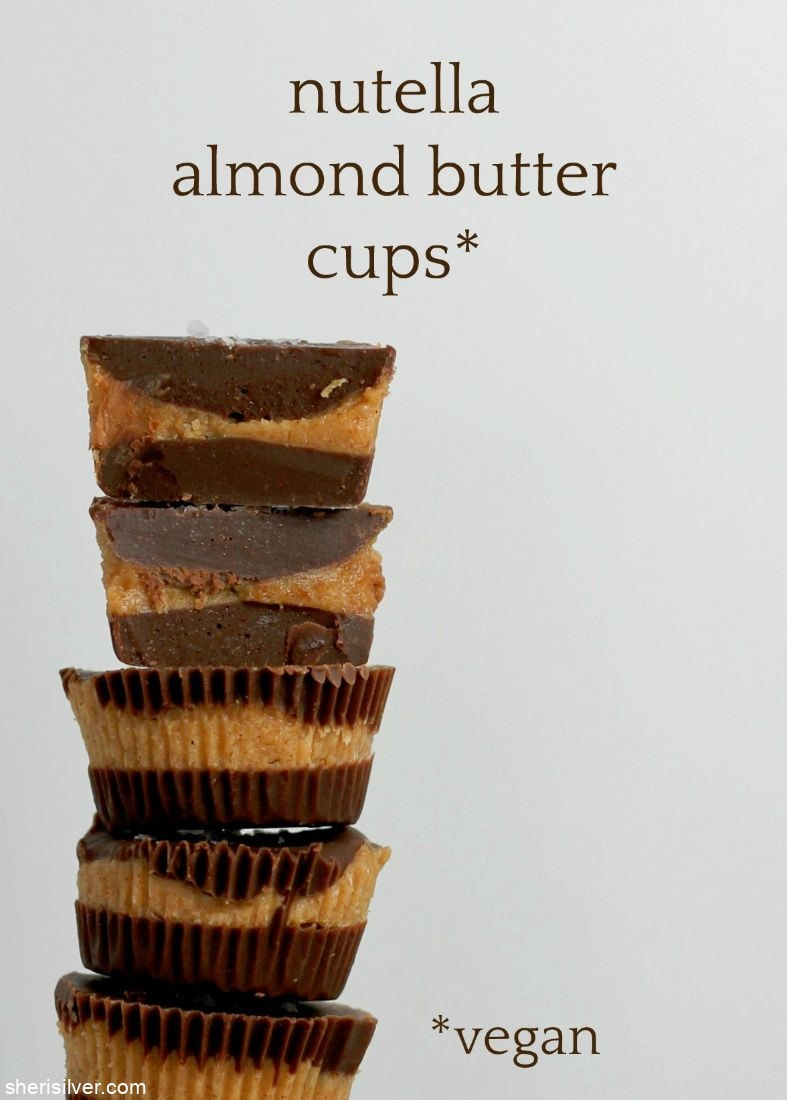 Nutella Almond Butter Cups l sherisilver.com