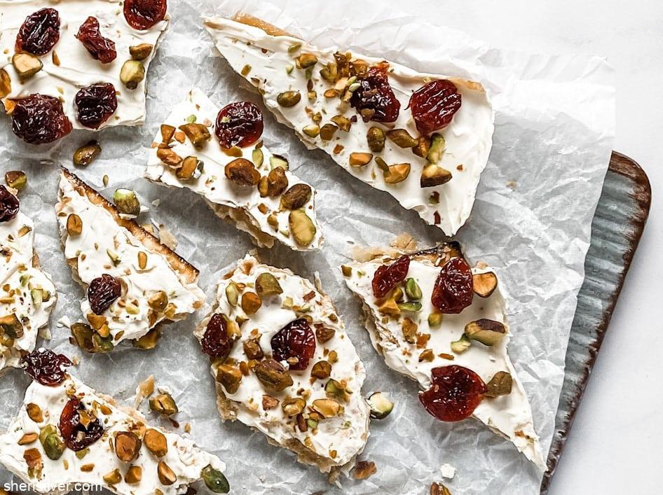White Chocolate Matzoh Crack l sherisilver.com