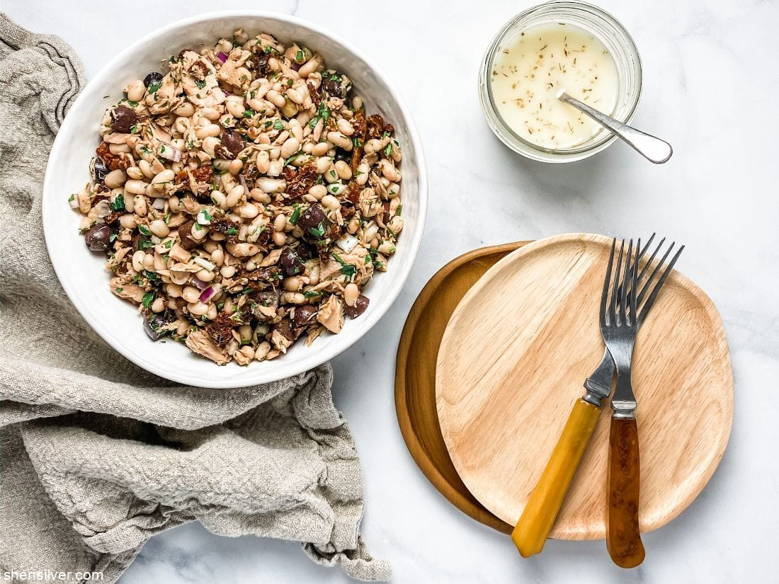 Tuna and White Bean Salad l sherisilver.com