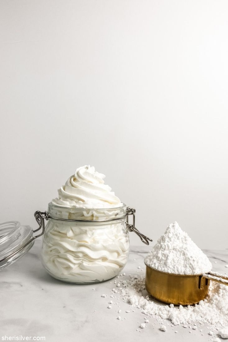 Whipped Cream Frosting l sherisilver.com