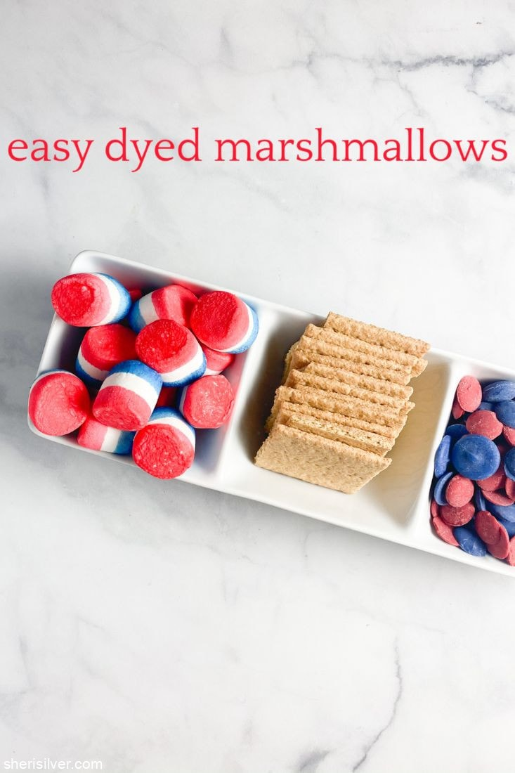 Easy Dyed Marshmallows l sherisilver.com