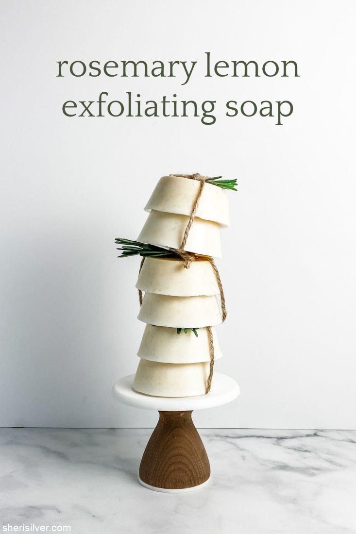 Rosemary Lemon Exfoliating Soap l sherisilver.com