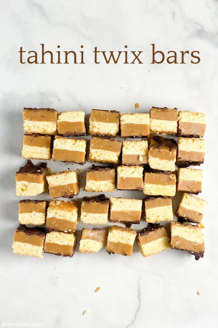 Tahini Twix Bars l sherisilver.com