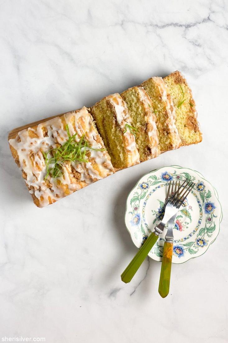 Lime Streusel Cake l sherisilver.com